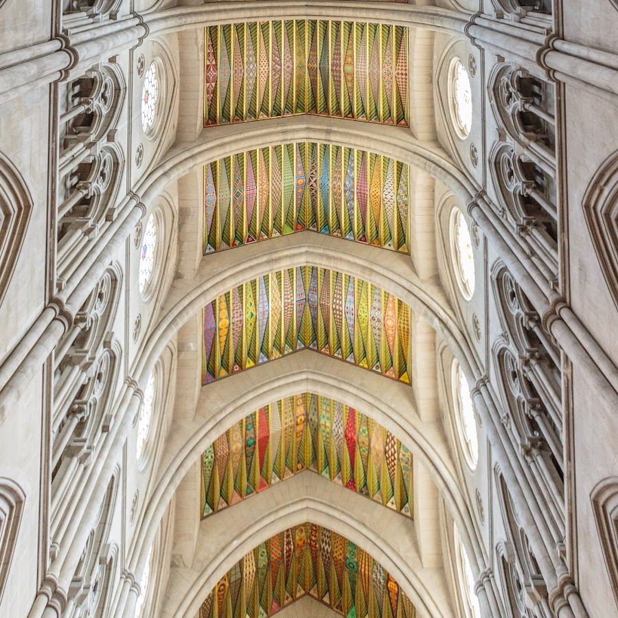 Almudena Cathedral Ceiling by Eric Criswell - Buildings & Architecture Architectural Detail ( interior, catholic, church, faith, colors, cathedral, almudena, religious )