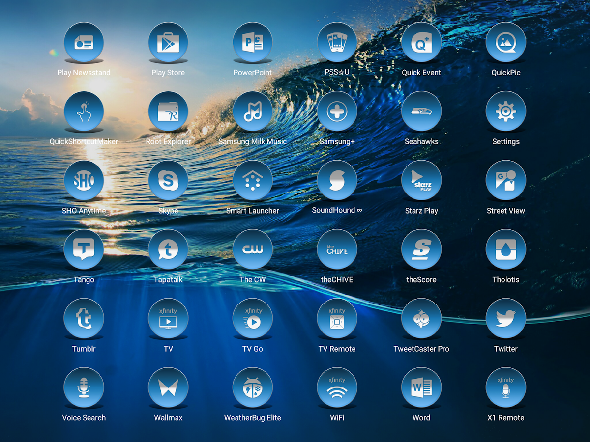Daf Blue - Icon Pack Screenshot 9
