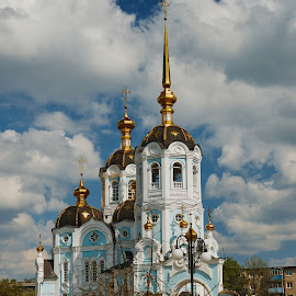 Church of the Holy Martyr Alexander, Archbishop of Kharkov. Kharkov. Ukraine by Igor Nayda - Buildings & Architecture Other Exteriors ( temple, kharkov, ukraine, church, orthodox, cloudy, cathedral, architecture, cityscape, day, spring, kharkiv )