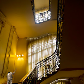 Cleaning the Stairs by Susana Montironi - Buildings & Architecture Office Buildings & Hotels ( building hotel staircase cleaning,  )