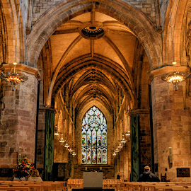 Cathedral Aisle by Prottay Adhikari - Buildings & Architecture Other Interior ( uk, edinburgh, church, aisle, churches, united kingdom )