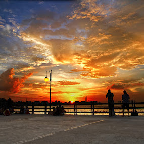 SUNSET DRAMATIC 12042013 JAKARTA BEACH by Arif Otto - Landscapes Sunsets & Sunrises