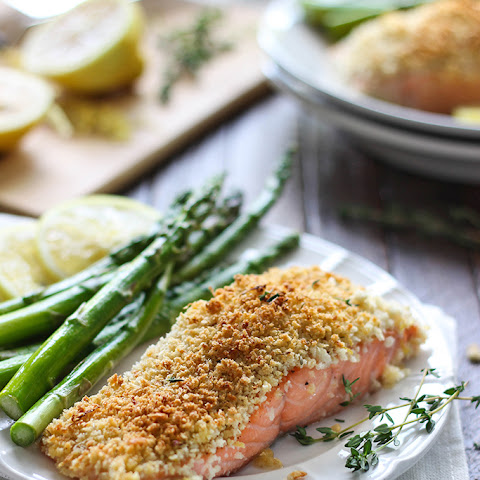 Lemon and Parmesan Crusted Salmon