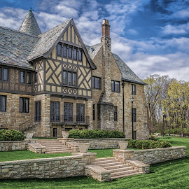 Ewing Terrace by James Kirk - Buildings & Architecture Public & Historical ( terrace, mansion, grass, stone, cultural center, spring, historic )