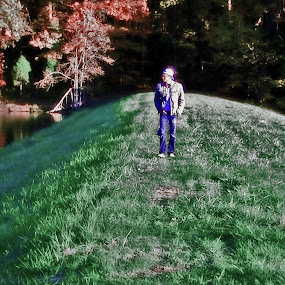 Walking the Path of Verde by Daryl Peck - Novices Only Portraits & People ( wilderness, walking, person, green, path, landscape, alone, woods, walk,  )