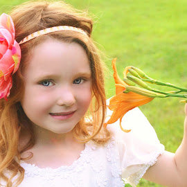 Beauty & the Lily by Cheryl Korotky - Babies & Children Child Portraits