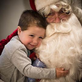 Santa love by Deb Dicker - Babies & Children Children Candids ( holiday, child, love, advent, season, santa, santa claus, christmas, holidays, card, boy,  )