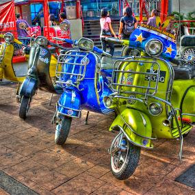 Vespa by Fazrul Mustaqim - City,  Street & Park  Street Scenes ( motorbike, vespa, street, motorcycle, travel )
