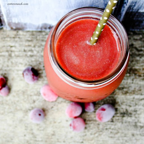 Soothing Coconut Cranberry Smoothie {For Gut Health}