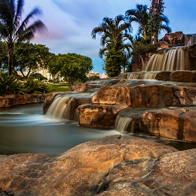 Waterfalls by Ralph Sobanski - Landscapes Waterscapes ( water, tropical, waterfall, long exposure, palms )