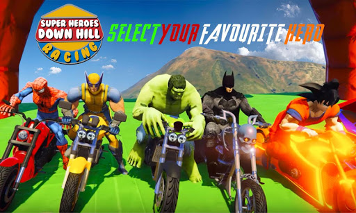 Super Heroes Downhill Racing For PC