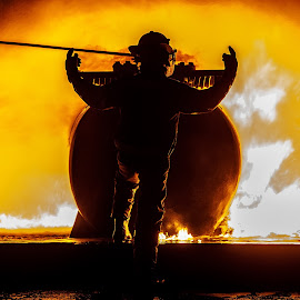 In charge by Arisha Singh - People Portraits of Men ( firefighter, fireman, firefighting, fire, ems )