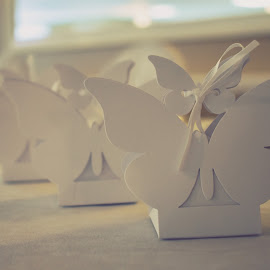 Paper Details by Tiffany Serijna - Artistic Objects Other Objects ( butterfly, wedding, paper, white, design )