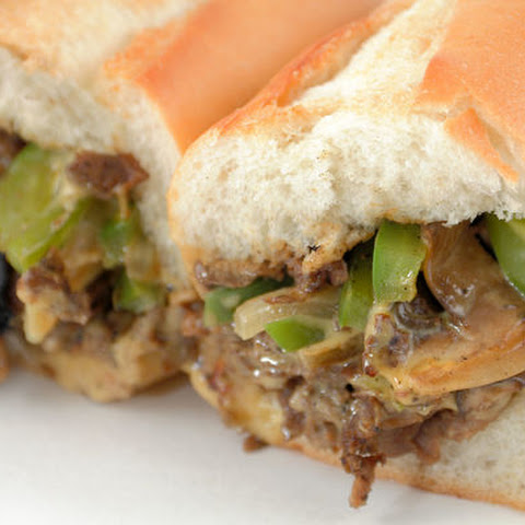 Gourmet Cheesesteak with Green Peppers