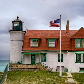 Point Betsie Lighthouse by Andrew Christmann - Buildings & Architecture Other Exteriors ( sleeping bear dunes, lake michigan, point betsie, lighthouse )