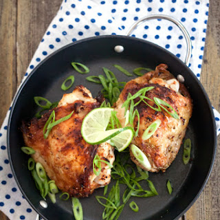 Rosemary Lime Roasted Chicken Thighs