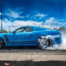 Boss Burnout by Paul Haines - Transportation Automobiles