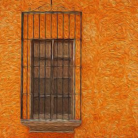 Ventana (Window) by Ken Quiñones Street - Abstract Fine Art ( window )