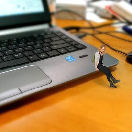 Mini Miss... by Nick Hopton - Digital Art People ( minature, laptop, defocus, small, tilt shift )