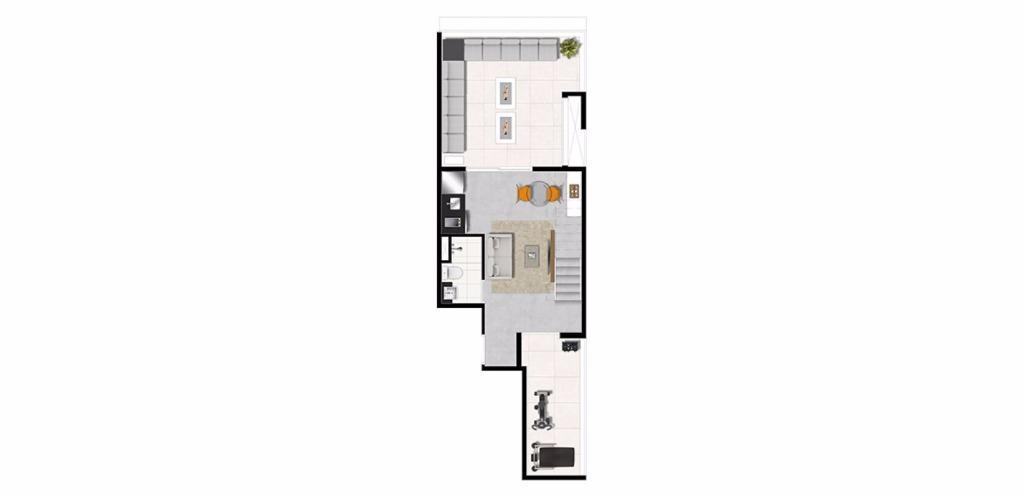 Planta Triplex Inferior 140 m²