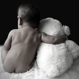 Jus Me N My Teddy by Kandi's  Photography - Babies & Children Babies ( babies, teddy bears, kandis photography )