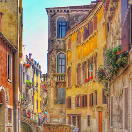 Local street by Mandy Hedley - City,  Street & Park  Street Scenes ( street, venice, scene, architecture, canal,  )