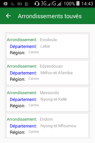 android MyCameroon Screenshot 3