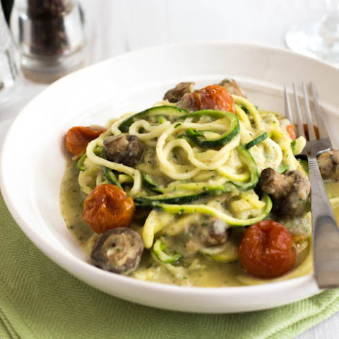 Creamy Courgetti With White Bean Sauce