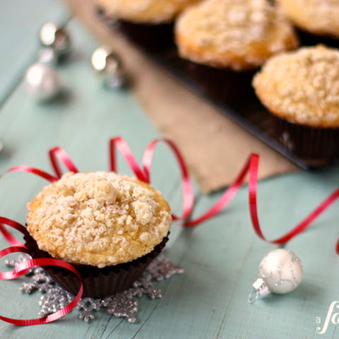 Spiced Eggnog Muffins with Streusel Topping