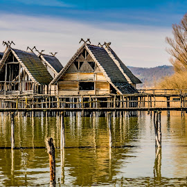 Life at the Lake Constance 5000 years ago by Linda Brueckmann - Buildings & Architecture Public & Historical (  )