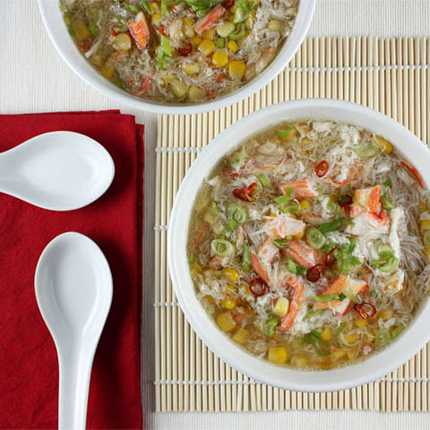 Asian Crab and Corn Soup