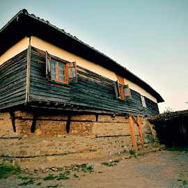 Old Bulgarian House by Dragos Vana - Buildings & Architecture Homes ( old house, wood, street, stone, architecture )