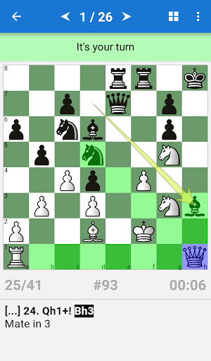 Mate in 3-4 (Chess Puzzles) - screenshot