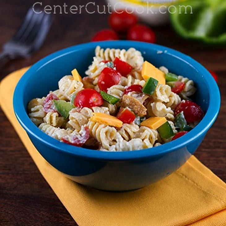 Bacon Cheddar Ranch Pasta Salad Recipe | Yummly