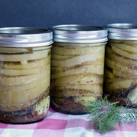 Pickled Green Tomatoes, for Can-It-Forward Day