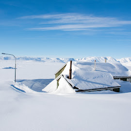 Snowy house in Greenland by Jon G Magnusson - Buildings & Architecture Homes ( winter, ice, snow, greenland, house )