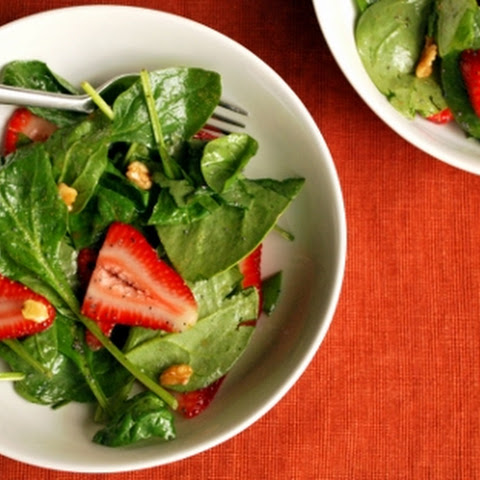 Spinach and Strawberry Salad with Poppy Seed Vinaigrette
