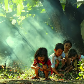 by Lalu Agus Suhardiman - Babies & Children Children Candids ( kids playing in summer )