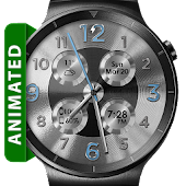 Download Brushed Silver HD Watch Face APK to PC