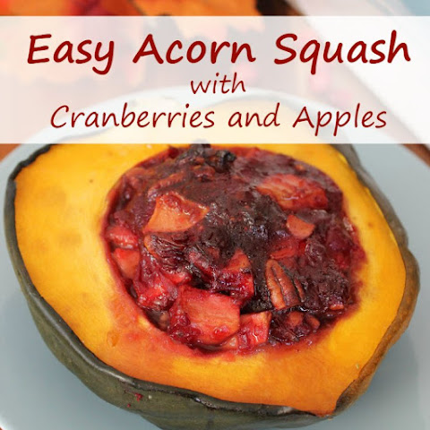 Easy Acorn Squash with Cranberries and Apples