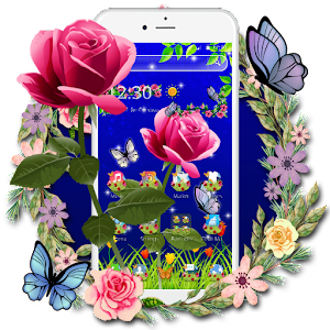 Download Scarlet Rose Butterfly Theme for Android