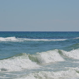 Great Waves by Kayla House - Landscapes Beaches ( water, splash, waves, calming, ocean, beauty, beach, relaxing, sun, beaches, great, vacation, florida, sunny, summer )