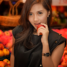 Wanna a bite? by Agung Hendramawan - People Portraits of Women ( #modelcitizenmedia, $girls, #model, #portrait )
