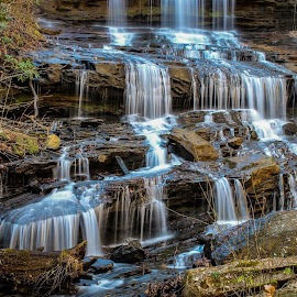 Pearson's Falls by Teresa Solesbee - Landscapes Waterscapes ( mountains, trail, waterfall, landscape, hiking )