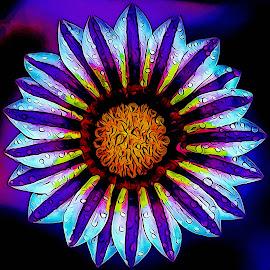 igital Art Flower by Dave Walters - Digital Art Abstract ( macro, nature, colors, artsey, flower )