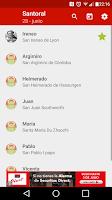 Screenshot of Santoral