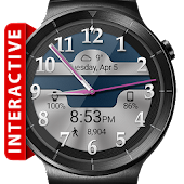 Brushed Chrome HD Watch Face for Lollipop - Android 5.0