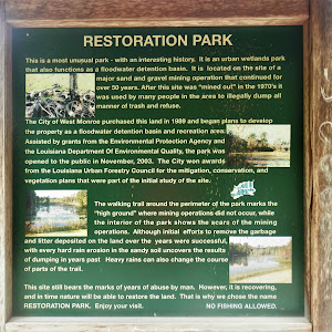 This is a most unusual park - with an interesting history. It is an urban wetlands park that also functions as a floodwater detention basin. It is located on the site of a major sand and gravel ...