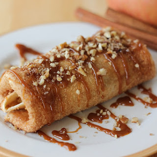 Caramel Cinnamon Apple Enchiladas