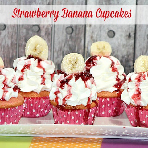 Strawberry Banana Cupcake